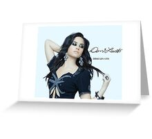 HOT DEMI LOVATO 3 By safma Greeting Card