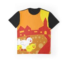 Hen And Chicks Graphic T-Shirt