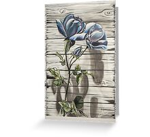 """FIGHTING SPIRIT (WITH """"CANVAS EDGES"""") Greeting Card"""