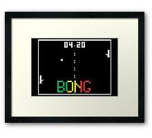 "ATARI Pong ""BONG"" game Framed Print"