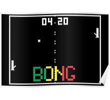 """ATARI Pong """"BONG"""" game Poster"""