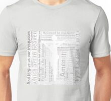 Lord's Prayer - English - Grey Unisex T-Shirt