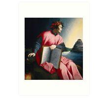 Florentine Allegorical Portrait of Dante, Art Print
