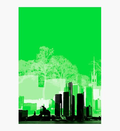Green Town Photographic Print