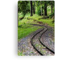 Rail Bend Canvas Print