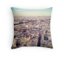 Paris view from the top of the Eiffel Tower Throw Pillow