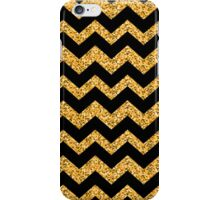 Vintage Gold Glitter Chevron Zig Zag Pattern iPhone Case/Skin