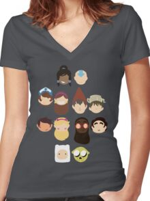 The faves Women's Fitted V-Neck T-Shirt
