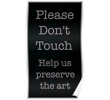 DON'T TOUCH Poster