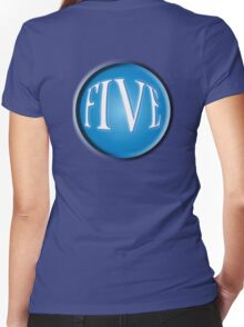 FIVE BALL, FIFTH, NUMBER 5, 5, TEAM SPORTS, Competition, BLUE Women's Fitted V-Neck T-Shirt