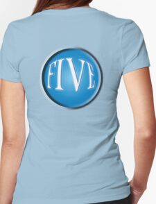 FIVE BALL, FIFTH, NUMBER 5, 5, TEAM SPORTS, Competition, BLUE Womens Fitted T-Shirt