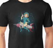 Rocket Ride Pinup Unisex T-Shirt