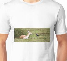 deer and bird Unisex T-Shirt