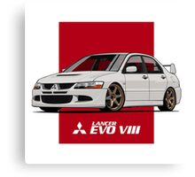 Mitsubishi Lancer Evolution VIII (white) Canvas Print