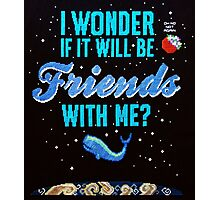 Cross stitch Space Whale  Photographic Print