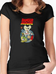 Dangermouse Women's Fitted Scoop T-Shirt