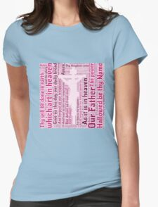 Lord's Prayer - English - Pink Womens Fitted T-Shirt