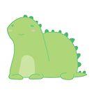Happy Green Dinosaur by StewNor