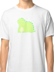 Happy Green Dinosaur Classic T-Shirt