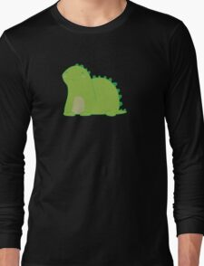 Happy Green Dinosaur Long Sleeve T-Shirt