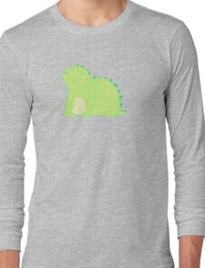 Happy Green Dinosaur Long Sleeve T-Shirt