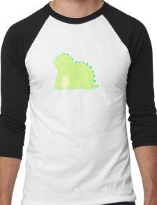Happy Green Dinosaur Men's Baseball ¾ T-Shirt