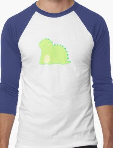 Happy Green Dinosaur Men's Baseball ¾ T-Shirt