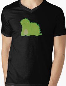 Happy Green Dinosaur Mens V-Neck T-Shirt