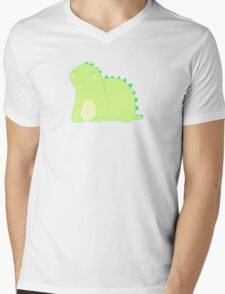 Happy Green Dinosaur Mens V-Neck T-Shirt