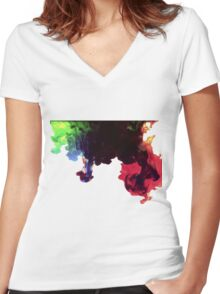 Ink release Women's Fitted V-Neck T-Shirt