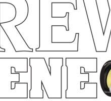 Brew Scene White Logo Sticker