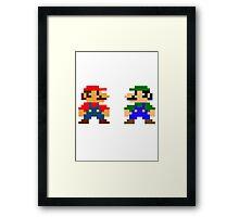 Mario And Luigi Framed Print