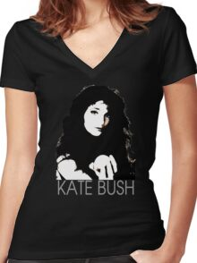 Kate Bush Women's Fitted V-Neck T-Shirt
