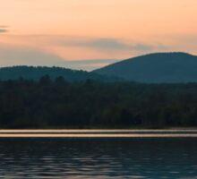 Adirondack Sunset, Mountains and Lake Sticker