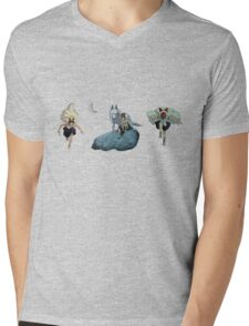 Princess Mononoke montage Mens V-Neck T-Shirt