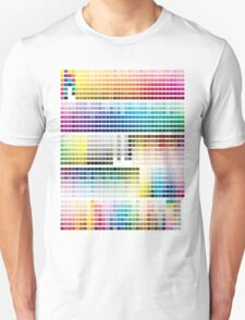 Colour Chart with codes Unisex T-Shirt