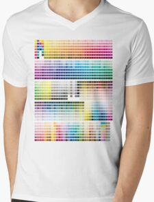 Colour Chart with codes Mens V-Neck T-Shirt