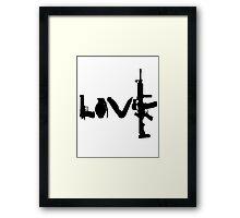 Love weapons - version 1 - black Framed Print