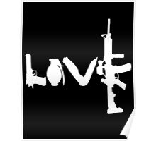Love weapons - version 2 - White Poster