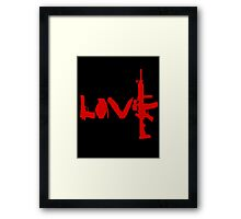 Love weapons - version 3 - red Framed Print