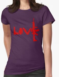 Love weapons - version 3 - red Womens Fitted T-Shirt