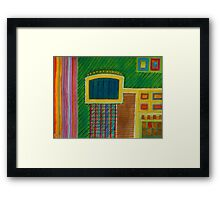 Colorful Interior with Screen Framed Print