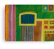 Colorful Interior with Screen Canvas Print