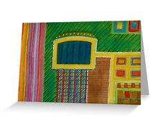 Colorful Interior with Screen Greeting Card