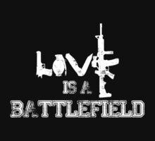 Love is a battlefield - version 2 - white by Supreto