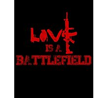 Love is a battlefield - version 3 - red Photographic Print