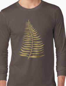 Golden Palm Leaf Long Sleeve T-Shirt