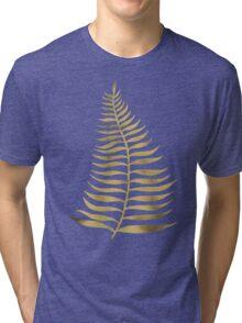 Golden Palm Leaf Tri-blend T-Shirt