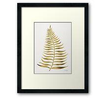 Golden Palm Leaf Framed Print