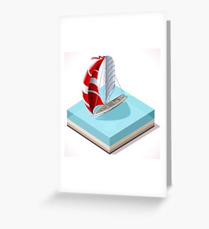 Sail Boat Set Greeting Card